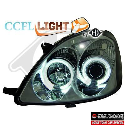 -FARURI ANGEL EYES TOYOTA YARIS FUNDAL CROM (CCFL) -COD 6605381