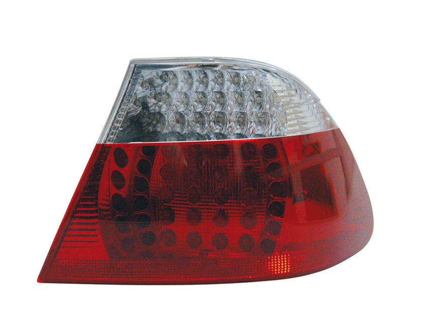 -STOPURI CU LED BMW E46 COUPE FUNDAL RED/CROM -COD FKRLXLBM8067