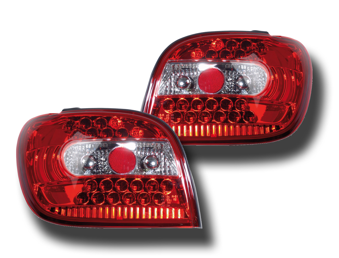 -STOPURI CU LED TOYOTA YARIS FUNDAL RED -COD FKRLXLTY005