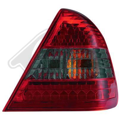 -STOPURI CU LED MERCEDES W202 FUNDAL RED/BLACK -COD 1670996