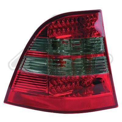 -STOPURI CU LED MERCEDES W163 FUNDAL RED/BLACK -COD 1690996