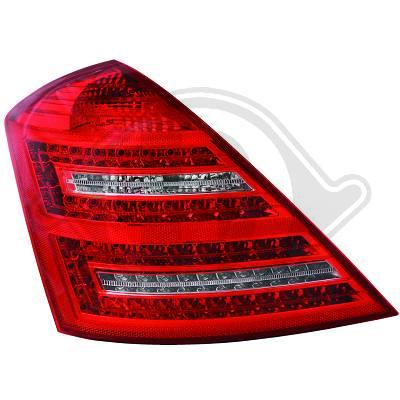 -STOPURI CU LED MERCEDES W221 FUNDAL RED/CRISTAL -COD 1647995