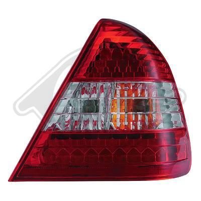 -STOPURI CU LED MERCEDES W202 FUNDAL RED/CRISTAL-COD 1670995
