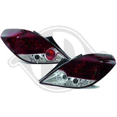 -STOPURI CU LED OPEL CORSA D FUNDAL RED/CRISTAL -COD 1814995