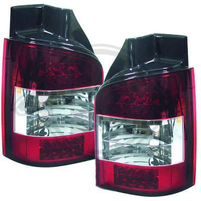 -STOPURI CU LED VW T5 FUNDAL RED/CRISTAL -COD 2272995