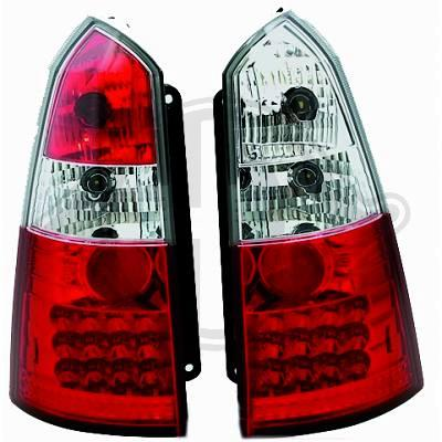 -STOPURI CU LED FORD FOCUS TURNIER FUNDAL RED/CRIST -COD 1415997
