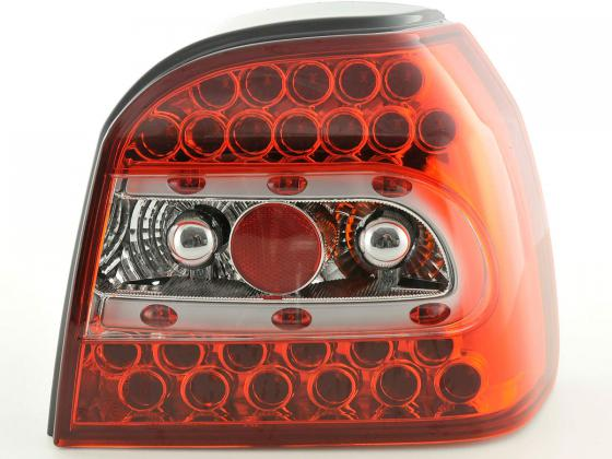 -STOPURI LED VW GOLF 3 FUNDAL ROSU/CRISTAL -COD RV01LLRC